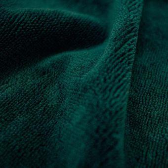 Tissu éponge bambou doudou vert foncé