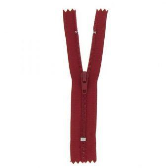 Fermeture polyester non séparable à glissière - Rouge