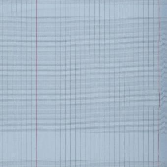 Tissu coton imprimé cahier d'école bleu
