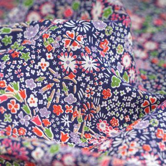 Tissu popeline de coton Liberty Wiltshire rouge