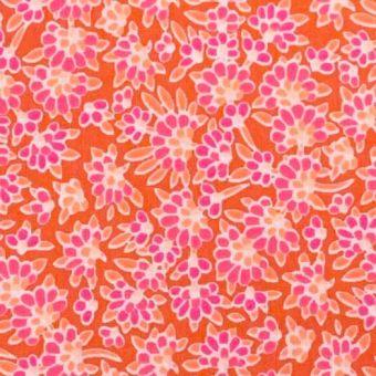 Tissu Popeline de coton calendula orange - Petit Pan