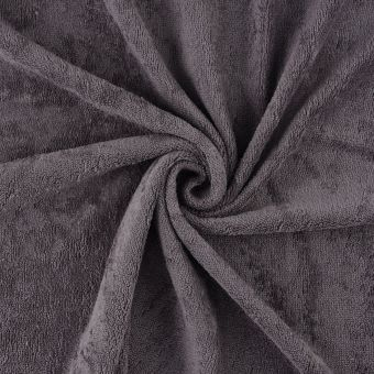 Tissu éponge bambou doudou gris anthracite