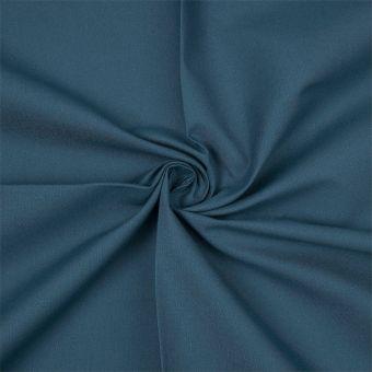Tissu coton bio uni bleu canard