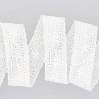 Ruban broderie anglaise 25 mm blanc