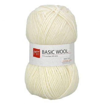 Pelote de fil à tricoter MT basic wool écru