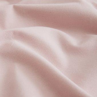 Tissu flanelle coton bio rose