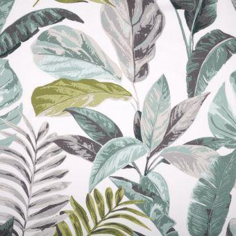 Tissu coton épais imprimé feuillages Calathea multicolore