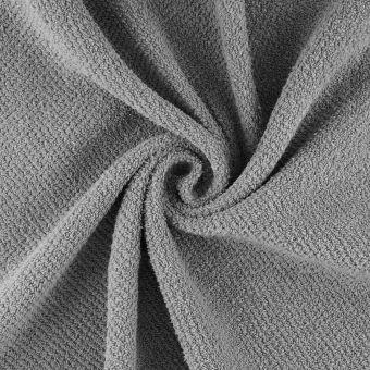 Tissu éponge nid d'abeille gris Sparkle
