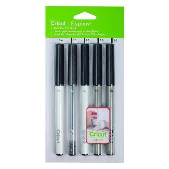 Cricut Explore / Maker 5 stylos multi-tailles noir