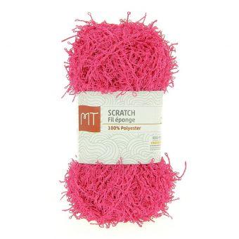 Pelote fil à tricoter MT Scratch rose