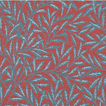Tissu jacquard Olivier rouge