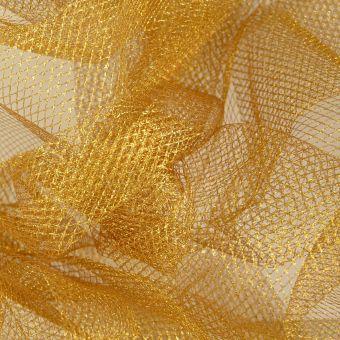 Tissu résille lurex or