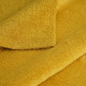 Tissu éponge bambou douce jaune