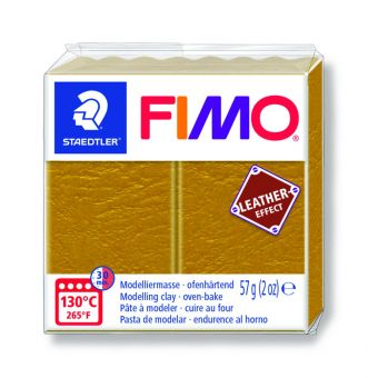 Pate fimo effet cuir 57g ocre