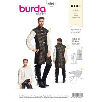 Patron Burda 6399 Renaissance - Chemise et gilet