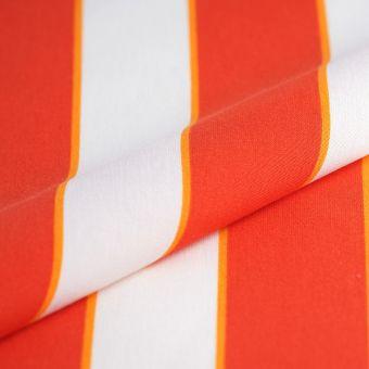 Tissu toile outdoor rayures orange