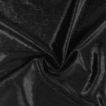 Tissu velours lisse brillant noir