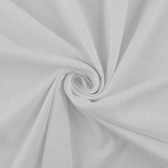 Tissu interlock coton pima blanc