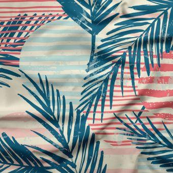 Tissu jersey lourd recyclé pour maillot de bain Palme - La Panda Love Fabrics
