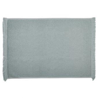 Tapis de bain à franges bleu céladon