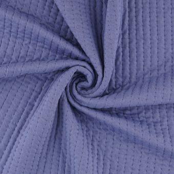 Tissu molleton sweat piqué bleu