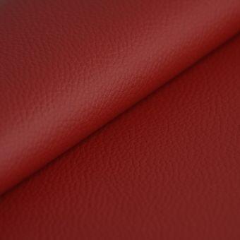 Simili epais ignifugé rouge 140cm