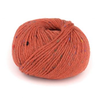 Pelote de fil à tricoter à tricoter Plassard Seraphine orange