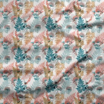 Tissu jersey lourd recyclé pour maillot de bain feuilles - La Panda Love Fabrics