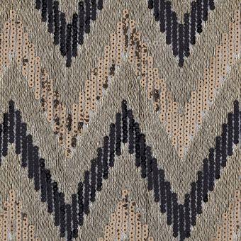 Tissu sequins zigzag
