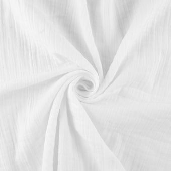 Tissu à draps double gaze blanc