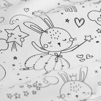 Tissu à colorier cretonne rêve