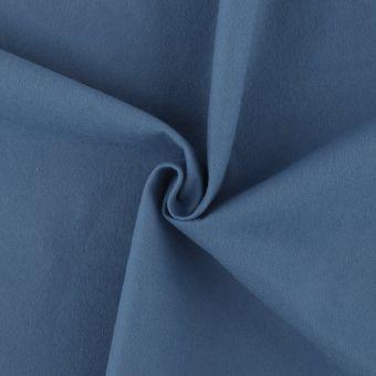 Tissu flanelle bio légère bleue