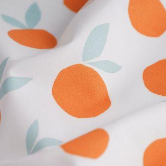 Tissu coton percale oranges