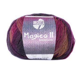 Fil à tricoter à chaussette classique rose/marron