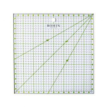 Règle patchwork Bohin 16 x 16 cm