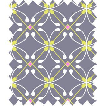 Coupon de tissu Gütermann light breeze géométrie violet