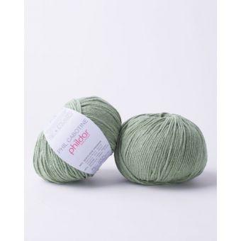 Pelote à tricoter coton-acrylique Phildar Cabotine herbier