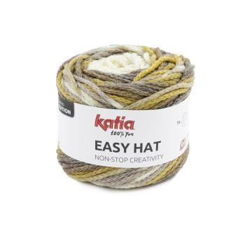 Pelote de fil à tricoter Katia Easy hat marron
