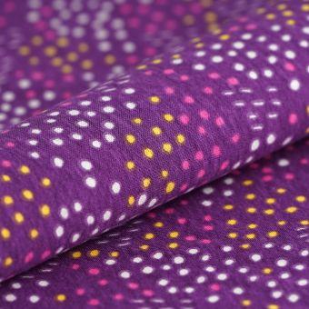 Tissu PUL violet imprimé pois