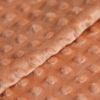Tissu polaire minky orange marsala