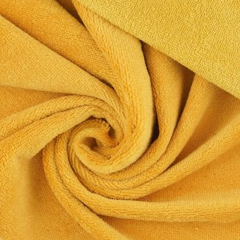 Tissu éponge bambou doudou jaune