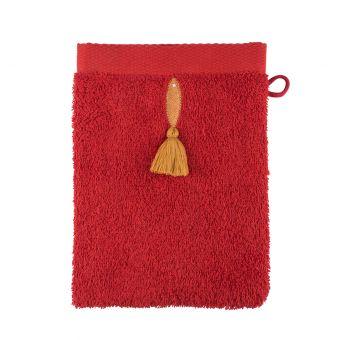 Gant de toilette rouge poisson