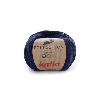 Fil à tricoter bio Katia Fair Cotton bleu marine