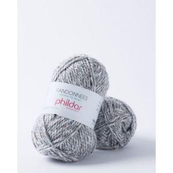 Fil à tricoter Randonnées gris chiné