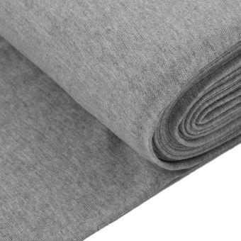 Tissu jersey bord-côte tubulaire gris clair