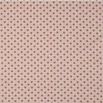 Maille jersey bio géométrie rose