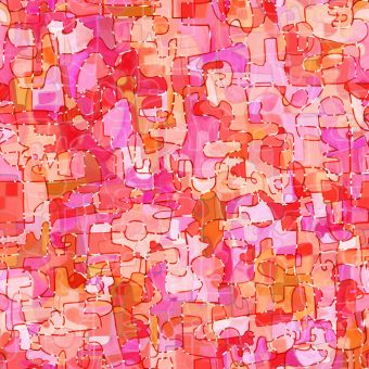 Tissu popeline de viscose Dashwood motifs graphiques rouge