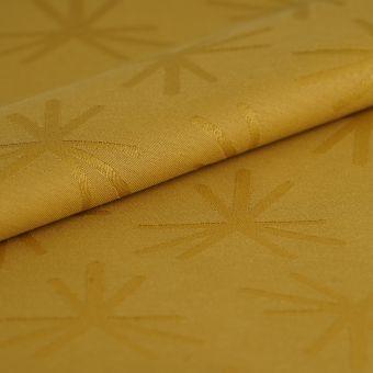 Tissu damassé Spot déperlant jaune