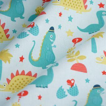 Tissu coton épais dinosaures