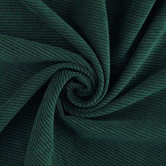 Tissu velours côtelé vert foncé